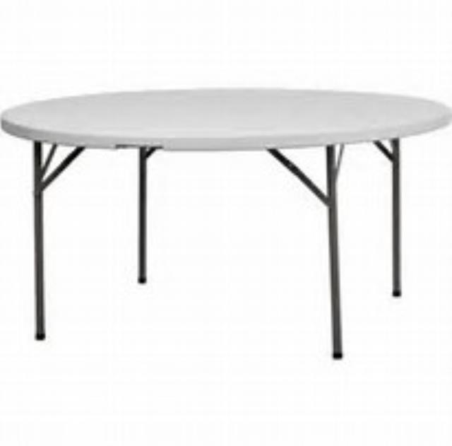 Where to find 60  ROUND TABLE POLY WHITE in Miami